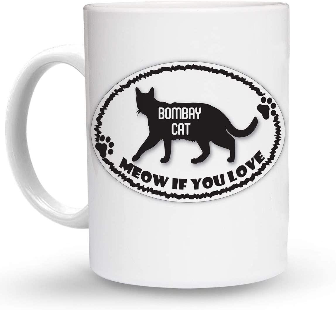 Makoroni - MEOW IF YOU LOVE BOMBAY CAT 6 oz Ceramic Espresso Shot Mug/Cup Design#48