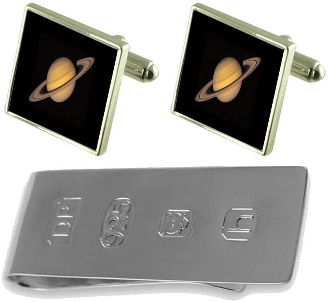 Select Gifts Planet Saturn Cufflinks & James Bond Money Clip