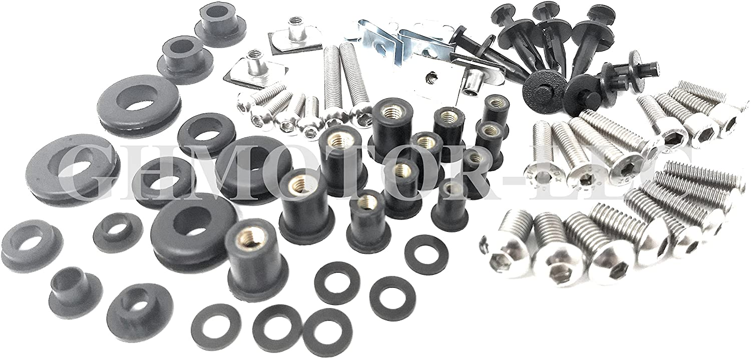 Complete Fairings Bolts Screws Fasteners Kit Set 2006 2007 2008 2009 2010 2011 ZX14R Zx-14R Silver