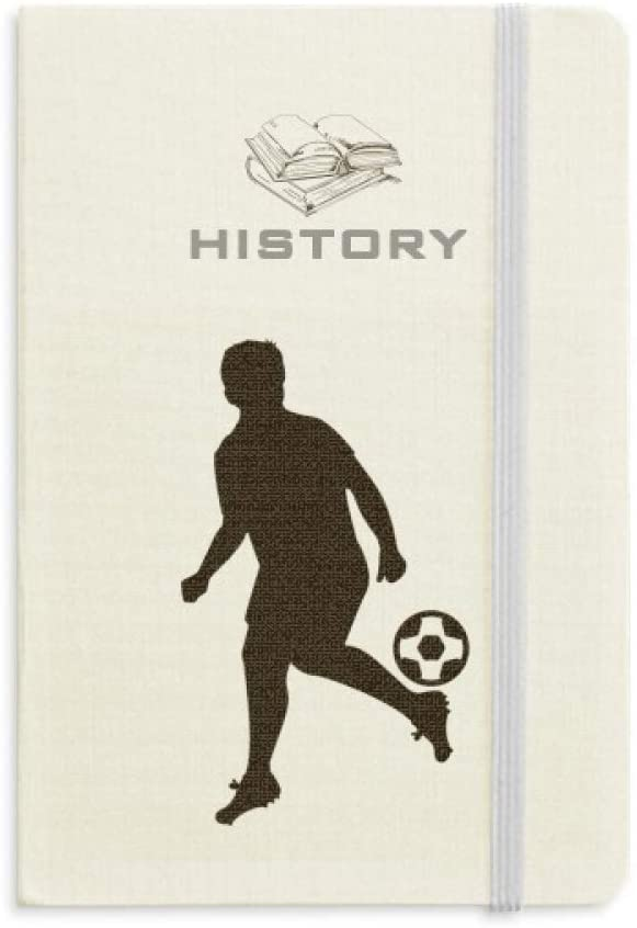 Football soccer Sports Silhouette History Notebook Classic Journal Diary A5