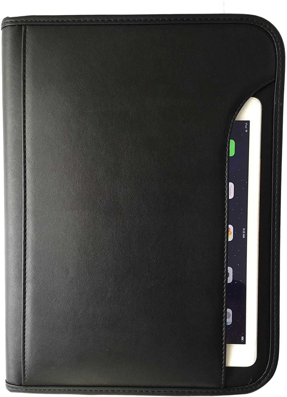 ImpecGear Padfolio Zippered Portfolio Interior 10.1 Inch Tablet Sleeve, Organizer Document Holder W/Notepad & Pen Slot, Calculator (10