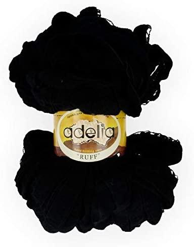 Russian Best Yarn AdeliaRuff 100% Acrylic 150 g 60 m, Black