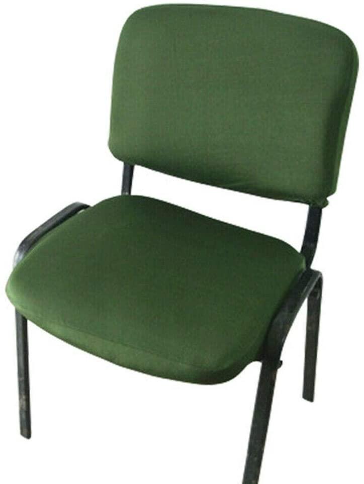 Slipcovers Universal Office Chair Slip Cover-Split Design -Chair Back &Seat Cover Green