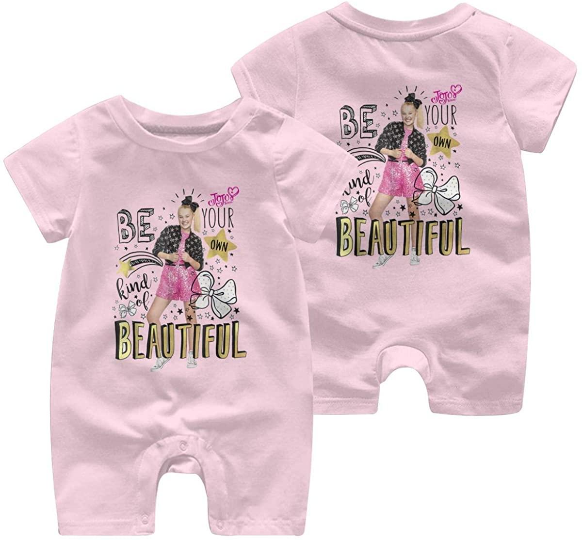 JoJo Siwa Be Your Own Kind Leisure Baby Short Sleeve Jumpsuit Kid Breathable Baby Pajama Sleeper Cotton Romper