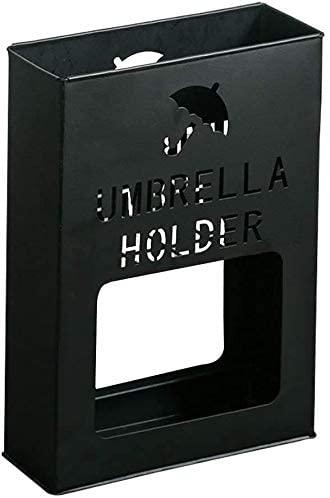 Modern Minimalist Umbrella Stand Vertical Creative Home Black/White Stainless Steel Umbrella Barrel Indoor Outdoor Umbrella Storage Rack 13x36x41cm (Color : Black)