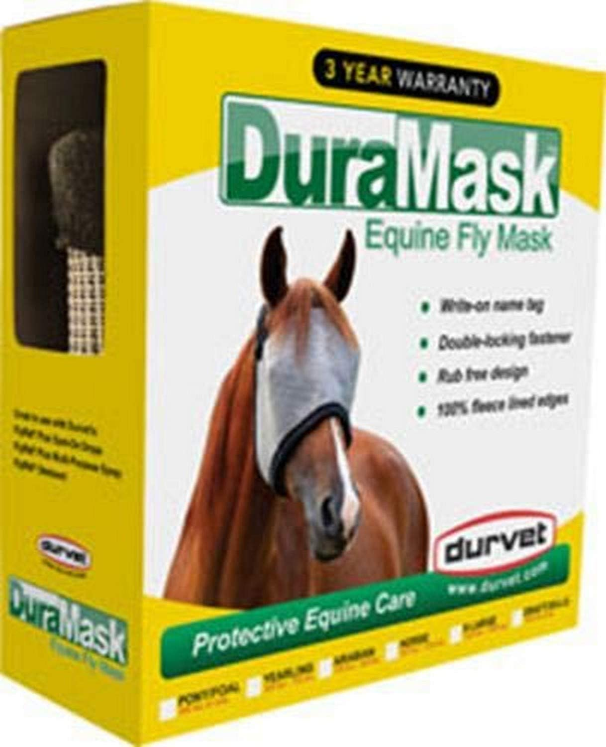 DURVET FLY 081-60003 698560 Duramask Fly Mask, Gray, X-Large