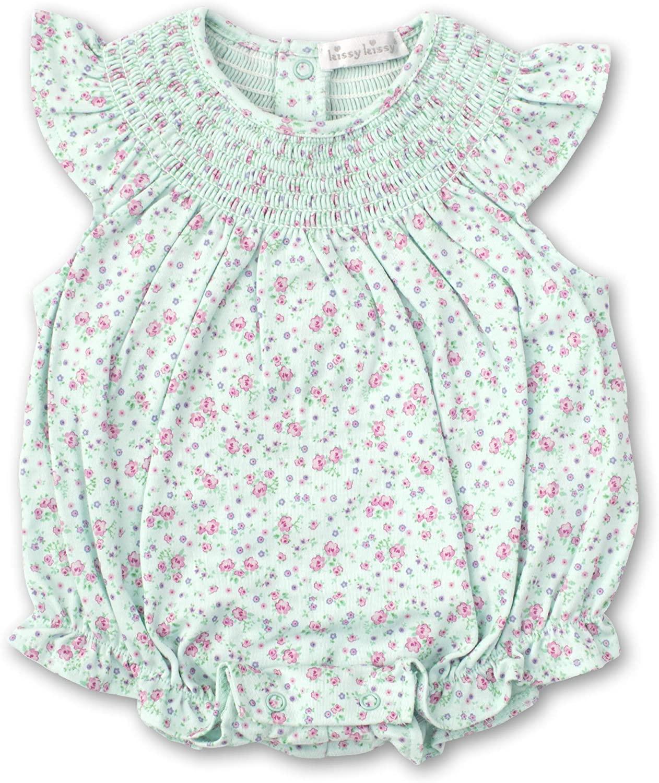 Kissy Kissy Baby-Girls Infant Dusty Rose Mint Print Bubble