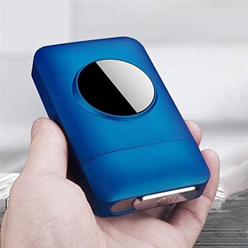 Lighters Metal Cigarette Case Box with USB Electronic Lighter Tobacco Storage Case Cigarette Holder Electric Plasma Arc Lighter Gadgets
