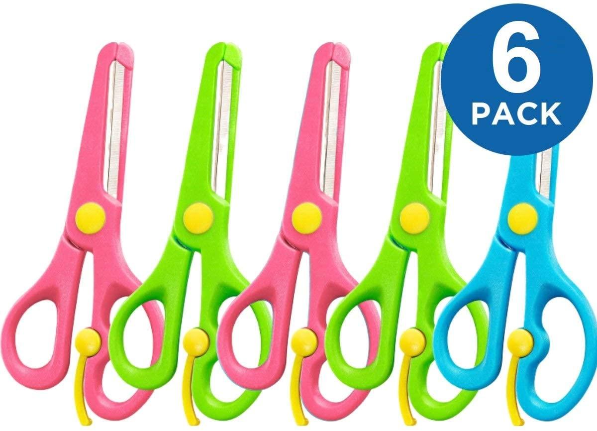 1InTheOffice Child Safety Scissors Set, Blunt Tip Kid School Scissors