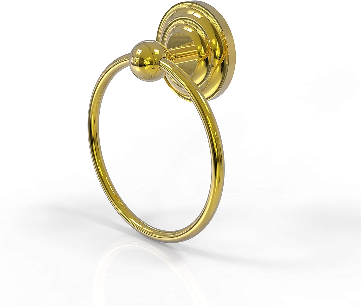Allied Brass PQN-16 Prestige Que New Collection Towel Ring, Polished Brass