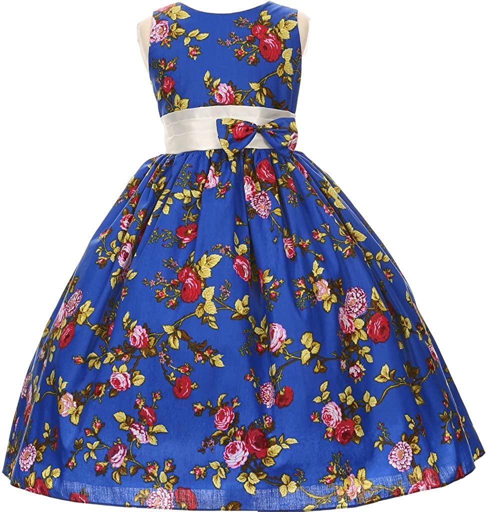 Flower Girl Dress Rose Print All Over