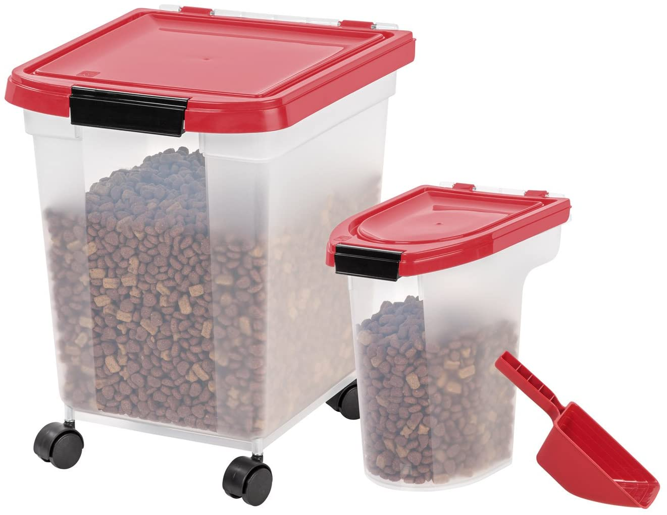 IRIS USA Airtight Food Storage Combo with Scoops MP-350/MP-220/SCP-2
