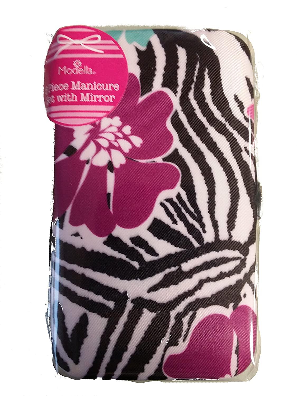 Modella 5 Piece Manicure Set with Mirror (African Violet)