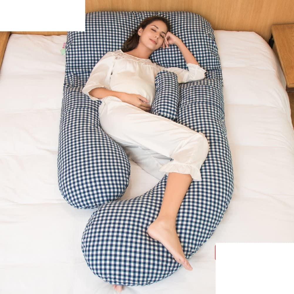 JGXVUYKDFV Pregnancy Pillow/Waist Side Sleeping Pillow/lateral Pillow/Cushion/u-Pillow During Pregnancy/Multifunctional Pillow/Sleeping Pillow-J 170x80x20cm(67x31x8)