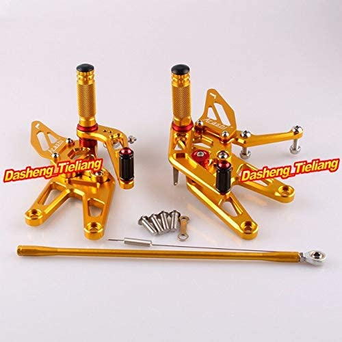 Frames & Fittings CNC Adjustable Rearset Rear Set Foot pegs for Yamaha YZF R6 2003 2004 2005 & R6S 2006-2009 Aluminum Alloy Gold