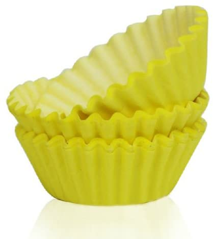 Mini Cute Yellow Paper Baking Cups Cake Chocolate Mold (100 PCS)