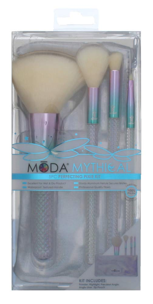 Royal Brush Moda Mythical Cosmetic 5 Piece Make Up Perfecting Pixie Kit Brush Set, 0.36 Count
