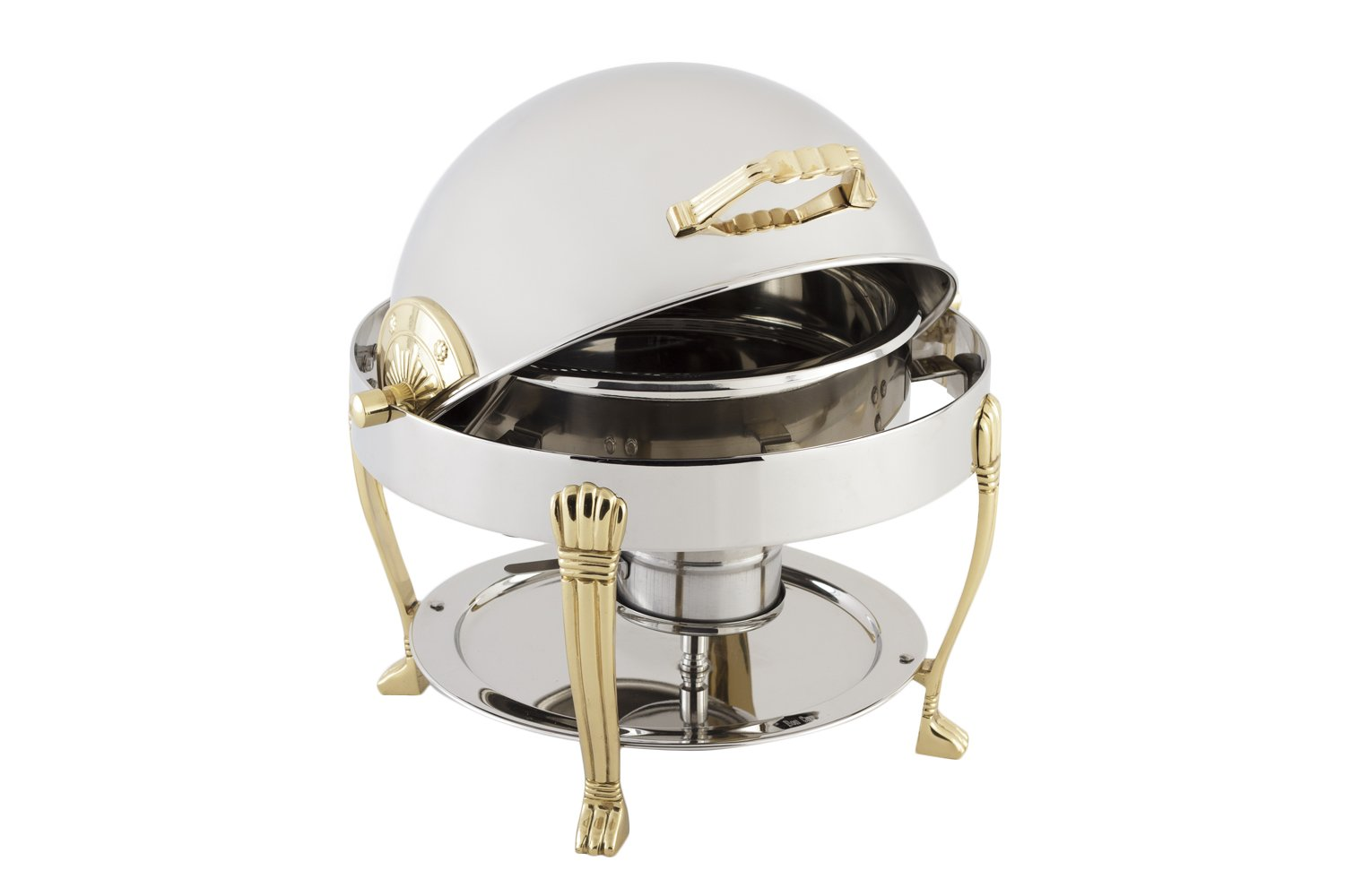 Bon Chef 12014 Stainless Steel Petite Round Chafing Dish with Aurora Legs, 3 Quart Capacity, 14