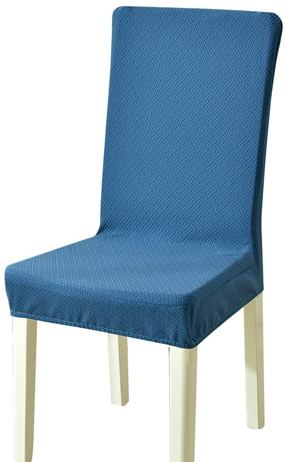 A sunflower Pure Colors Stretch Dining Room Chair Slipcovers (Blue, 4 Pieces)