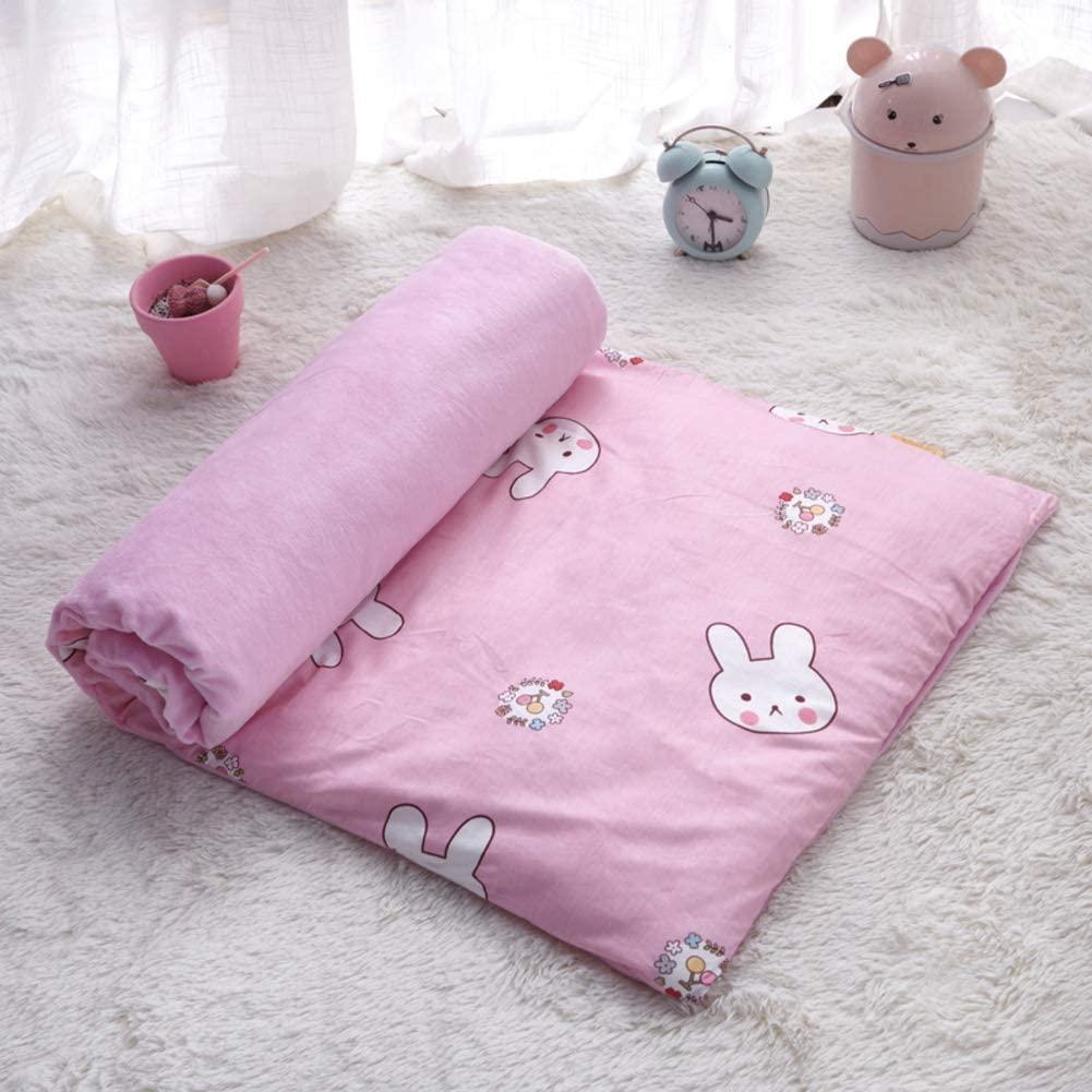 GGYDD 100% Cotton Toddler Mattress Toppers,Cartoon Soft Children Crawling Mat,Tatami Mat Thick Non-Slip Futon Sleeping Pad Nap Mat-i 60x135cm(24x53inch)
