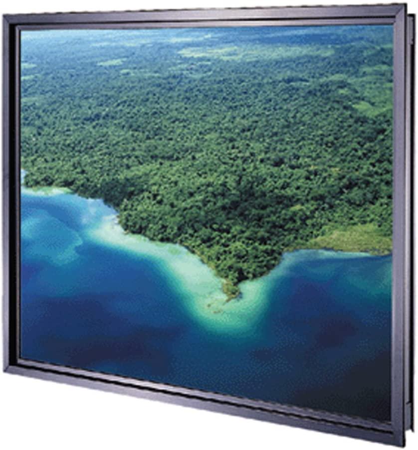 Da-Plex Rigid Rear Black Fixed Frame Projection Screen Viewing Area: 40.25 H x 53.75 W