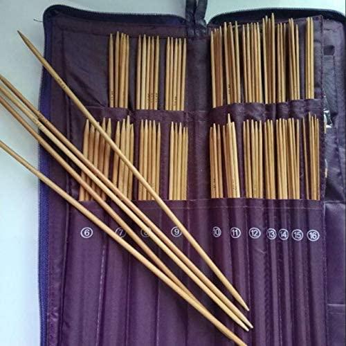 ShineBear Sewing Tools & Accessory Knitting Needles Set with Case Bamboo Knitting Needles+Circular Needles+Crochet Hook for DIY Sewing - (Color: 5 Round Needles)