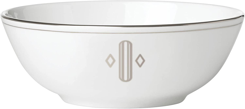 Lenox Federal Platinum Block Monogram Dinnerware Placesetting Bowl, O