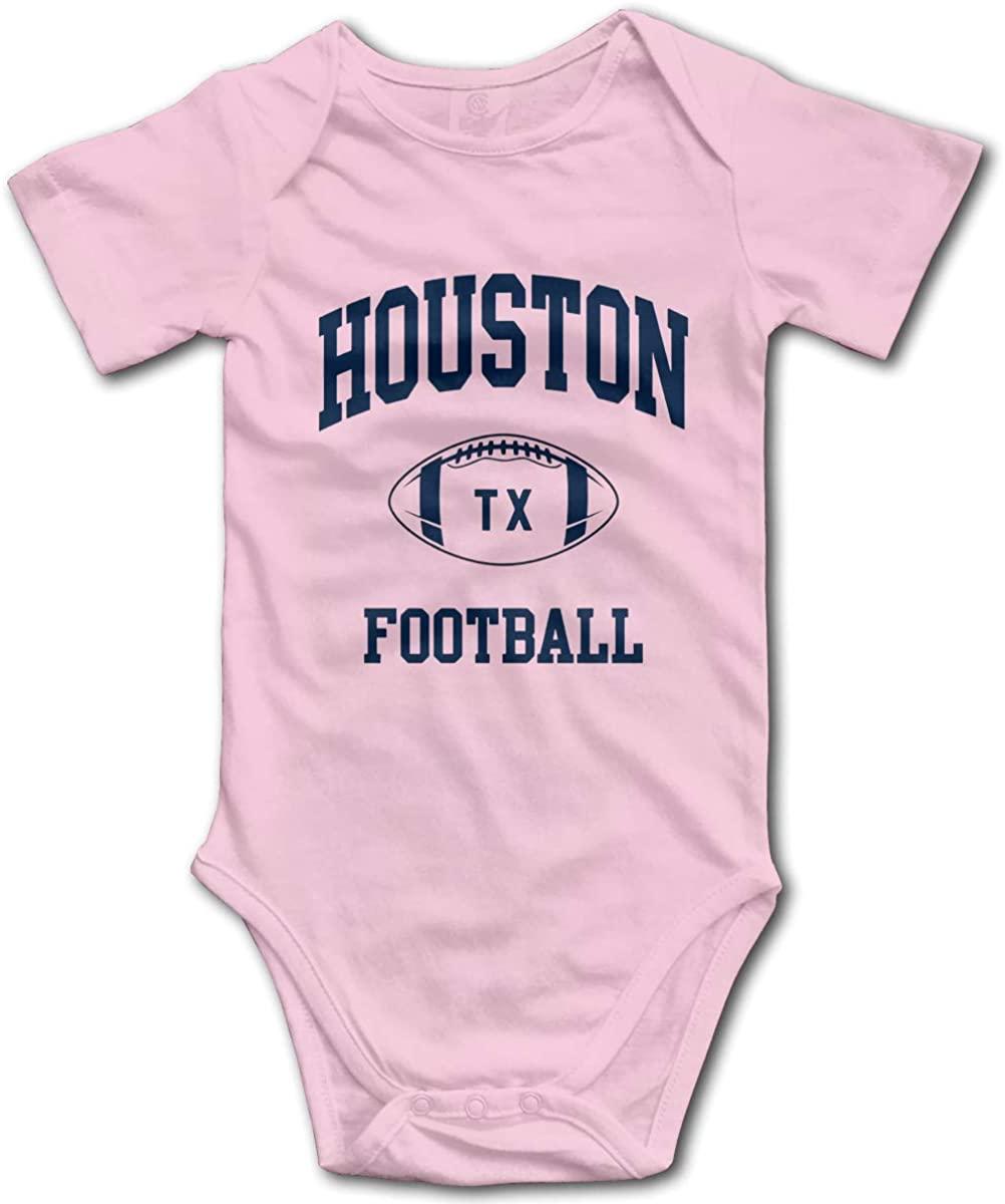 Houston City Classic Football Super Soft Cotton Baby Onesies Comfy Short Sleeve Bodysuit The Clash