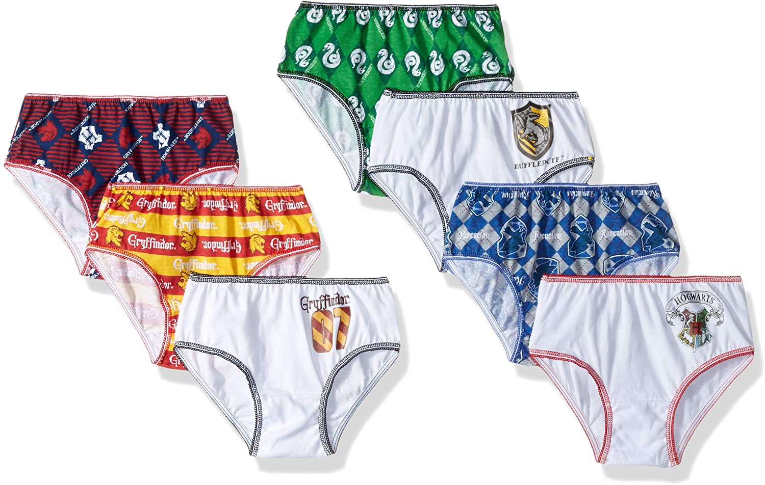 Warner Bros. Girls' 7-Pack Harry Potter Underwear Panty
