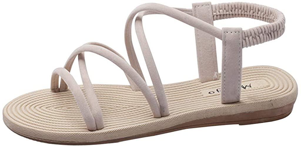 Women Summer Sandals Gladiators Beach Flat Casual Sandals Ladies Sandalias Cross Thin Beach Shoes