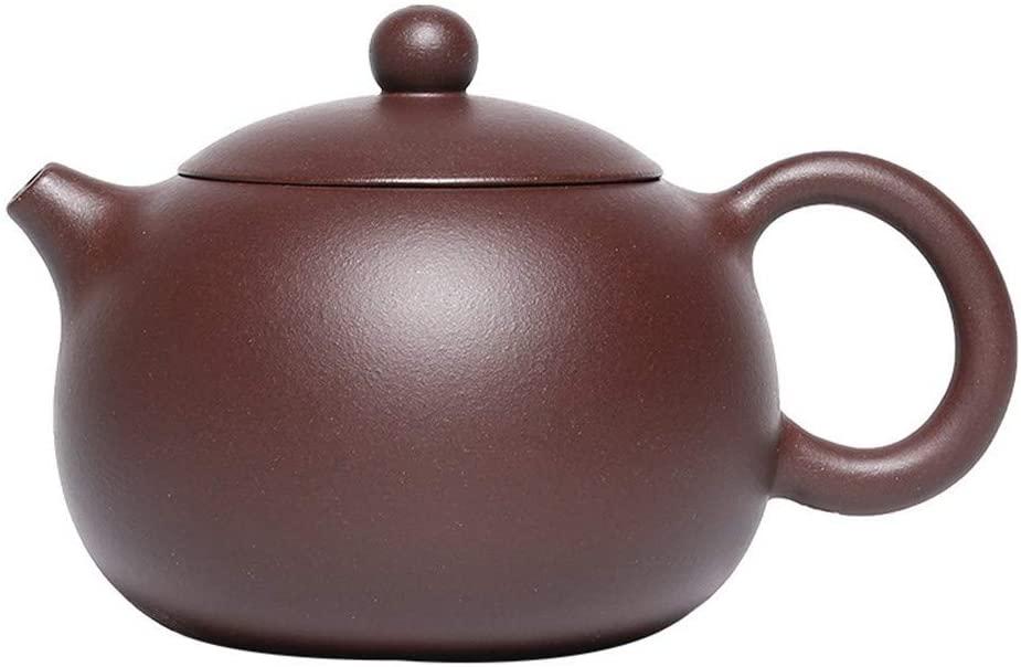 Bin Zhang Purple clay teapot pot Shih kung fu bubble tea with home (Color : Purple mud nine hole Xishi pot)