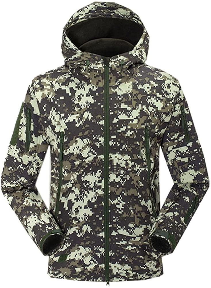 Uglyfrog New Outdoor Sports Men Autumn&Winter Soft Shel Shark Skin Camouflage Warm-Keeping Jacket Water-Proof Hardshell F101