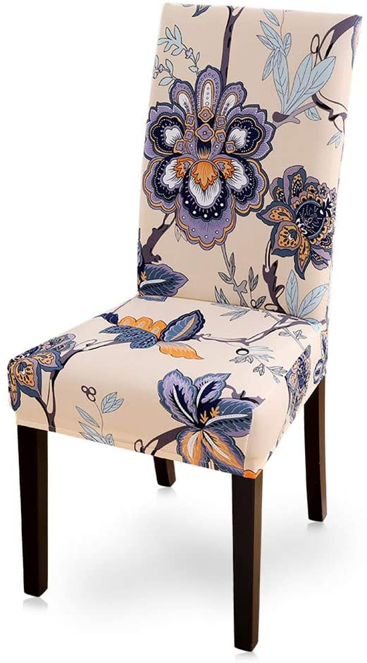 BED.BUTF Floral Print Chair Covers Spandex for Wedding Dining Chair Cover Room Stretch Elastic Office Banquet I 2pcs