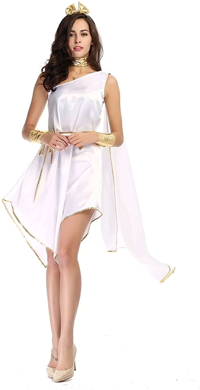 The Ancient Greek Goddess Halloween Costume White