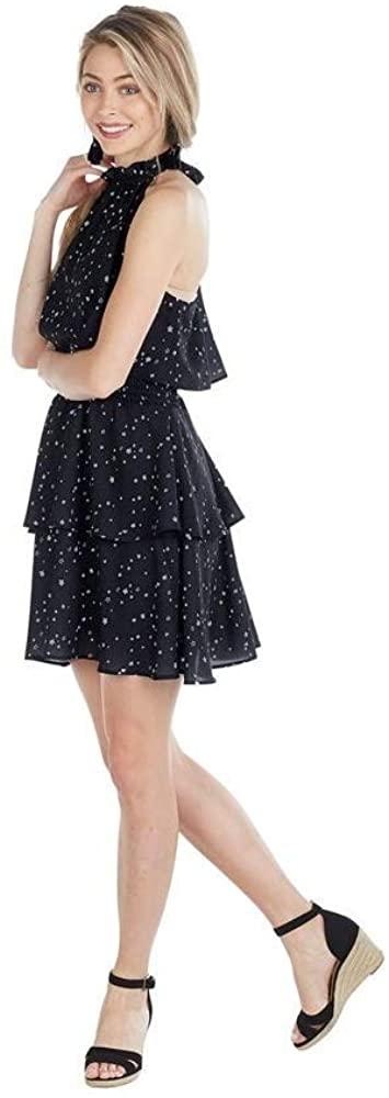 Mud Pie Pacey Flounce Dress, Black