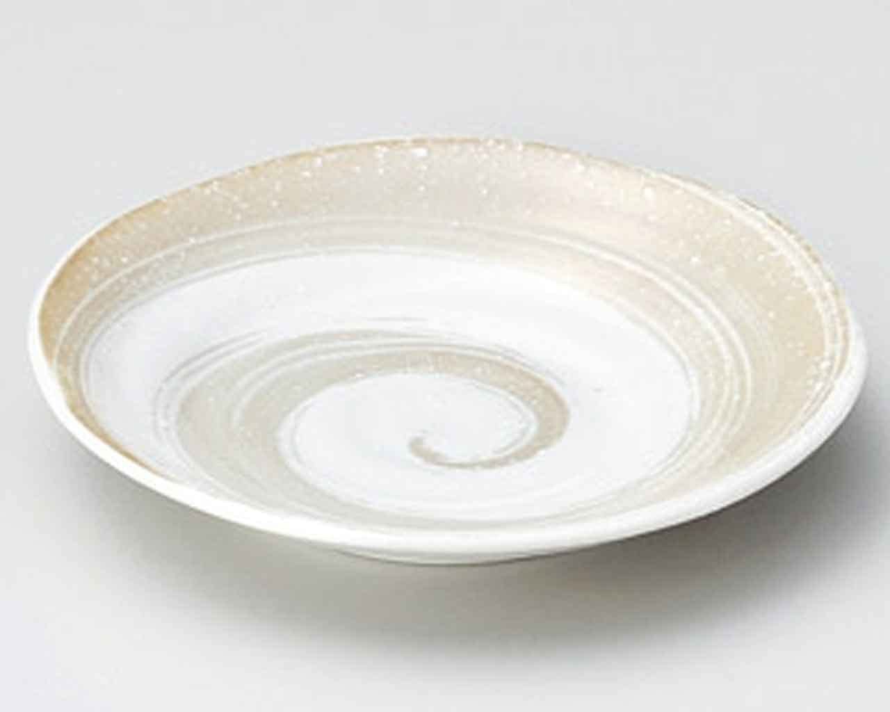 Moca Spiral 6.5inch Set of 5 Small Plates White porcelain Made in Japan