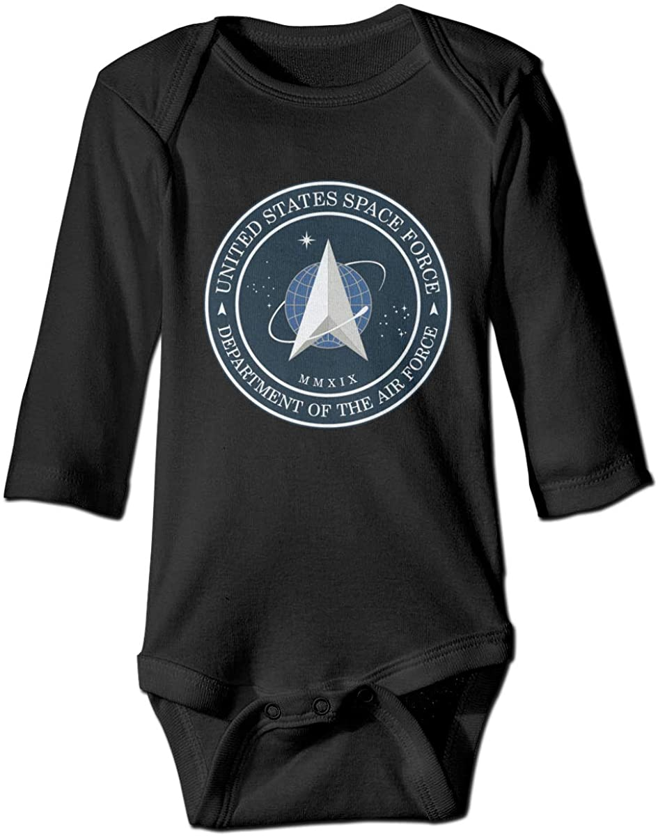 United States Space Force Baby Long Sleeve Jumpsuit Cute Newborn Infant Crawling Suit