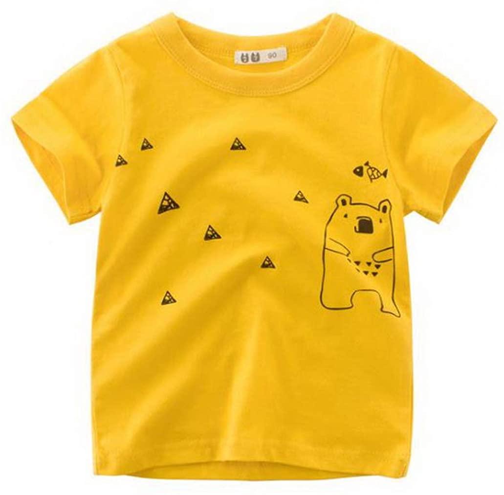 SuperLina 2 8Y Cartoon Baby Boys Dinosaur T Shirt for Infant Kids Boys Girls T Shirts Toddler Letter
