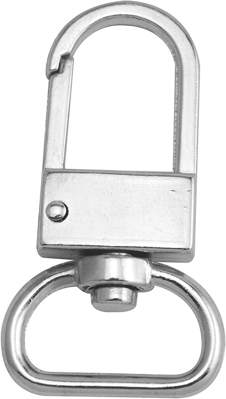 Fenggtonqii Silvery 0.8 Inner Diameter D Ring Buckle Lobster Clasps Swivel Snap Hooks Pack of 10