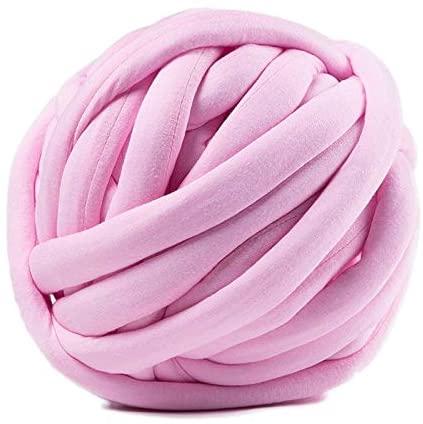 xinchenglove 17.63 Ounce/Ball Width 3cm Super Thick Merino Wool Chunky Yarn DIY Bulky Hand Knitting Blanket Basket Pillow Arm Roving Yarn AQ054 (NO5)