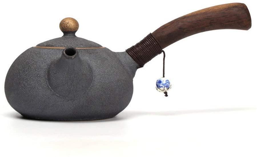 UMITEASETS - Japanese Teapots - Sand Glazed Chinese Teapot - Coarse Pottery Teapot