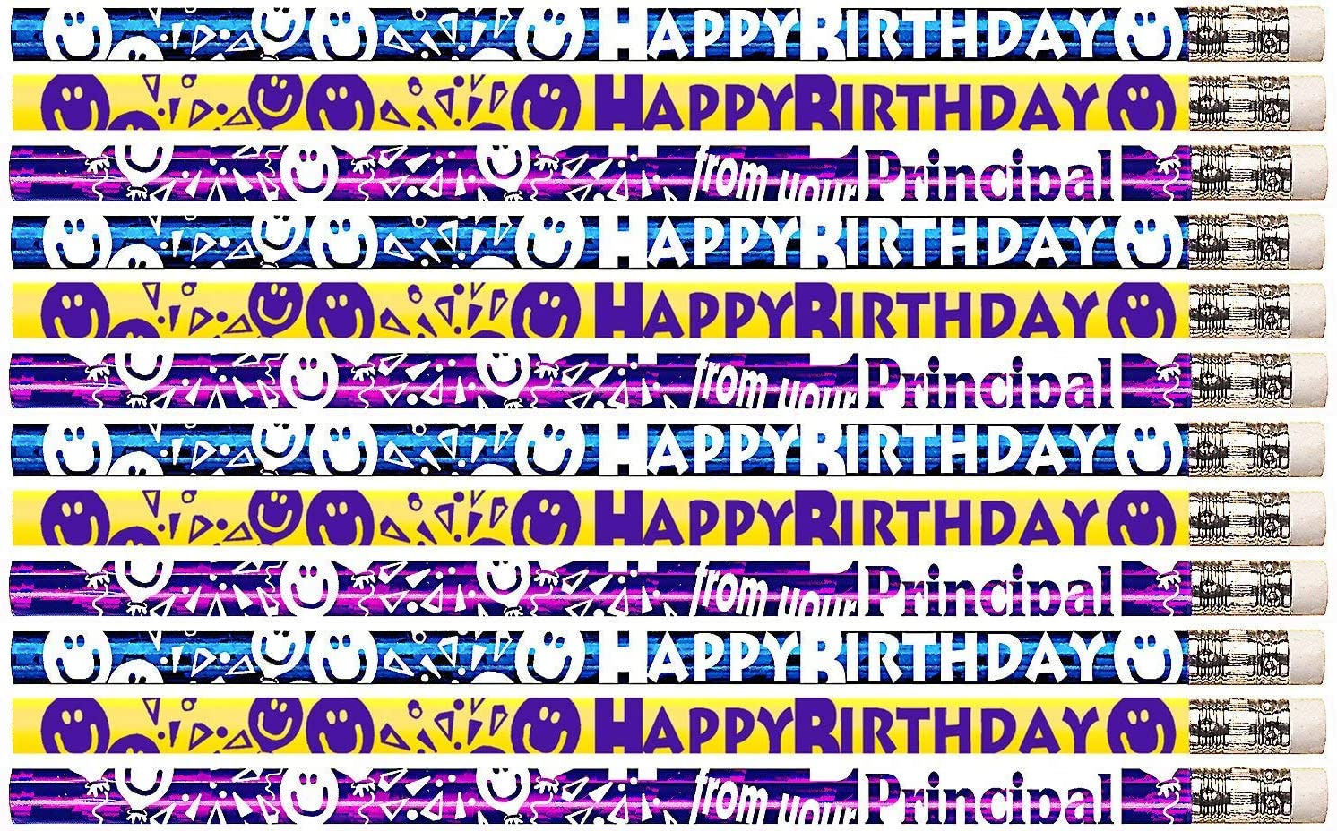 D1444 Happy Birthday From Your Principal - 36 Qty Package - Birthday Pencils - Express Pencils