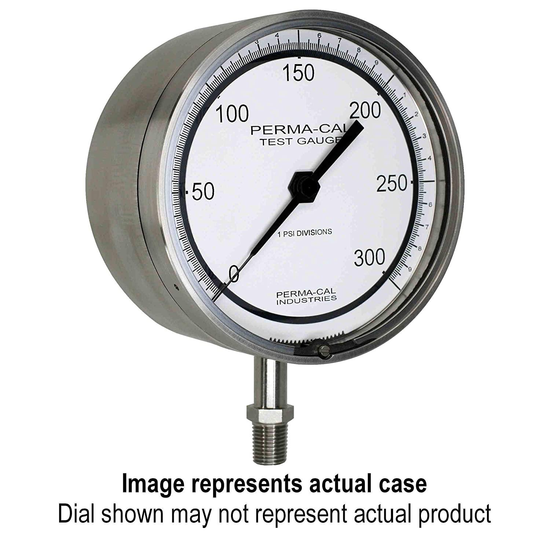 Pressure Gauge, Gearless, Test, 0-2000 psi, 4.5