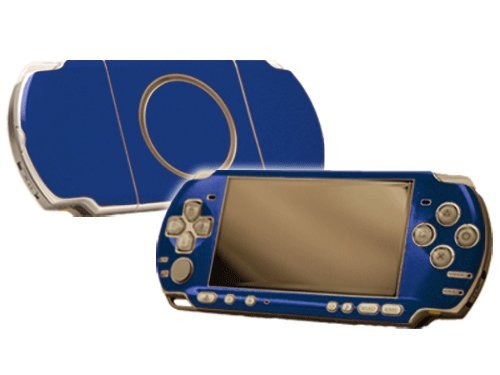 Ocean Blue Vinyl Decal Faceplate Mod Skin Kit for Sony PlayStation Portable 3000 Console by System Skins