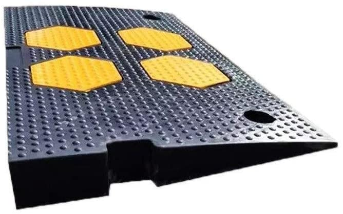 Car Speed Bump CJXing-Slope pad Vehicle Ramps, Rubber Service Ramps Outdoor Road Safety Ramps Parking Lot Loading Ramps Multifunction Kerb Ramps Rubber Slope