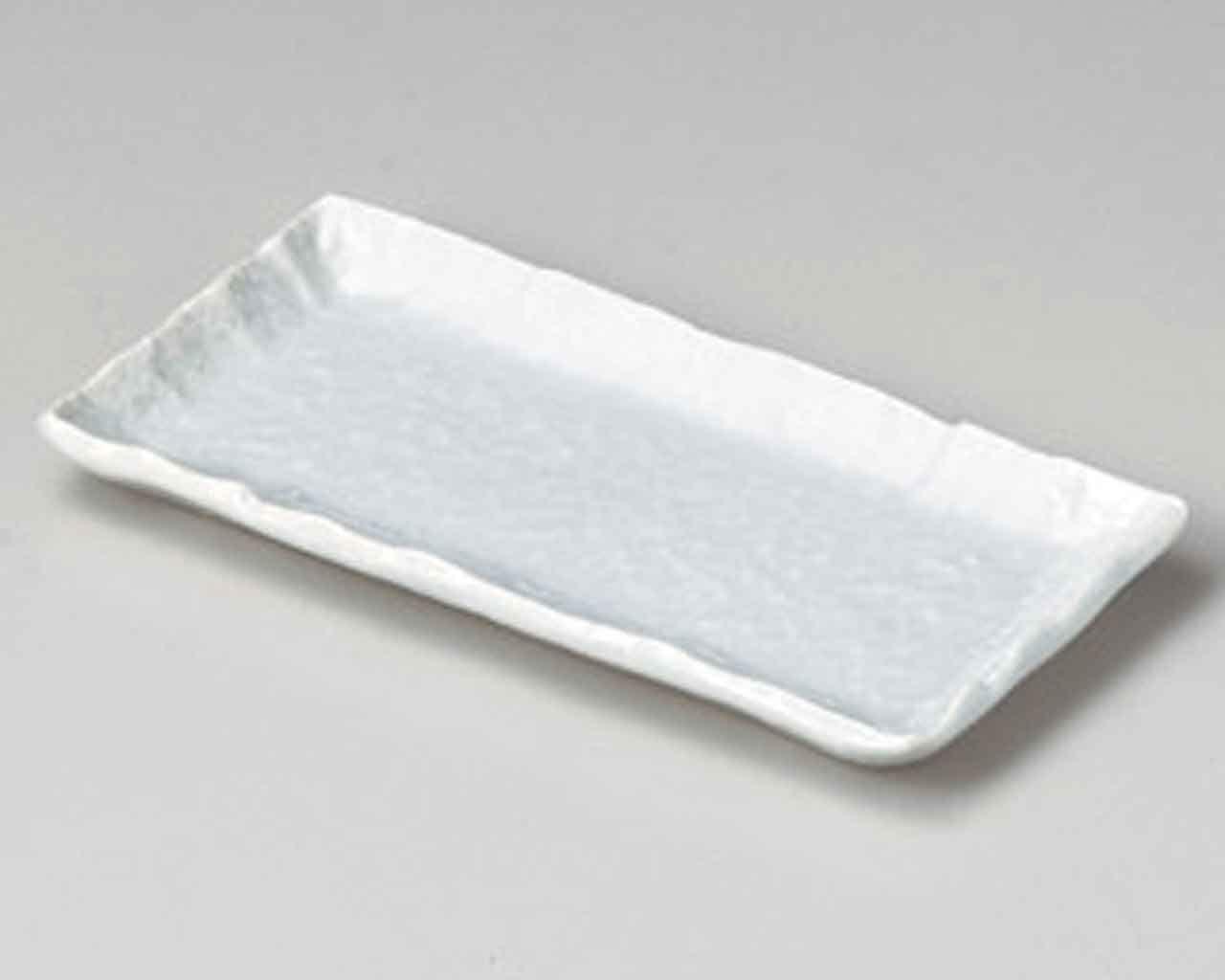 Seihakuji 8.3inch Set of 5 Long Plates Blue porcelain Made in Japan