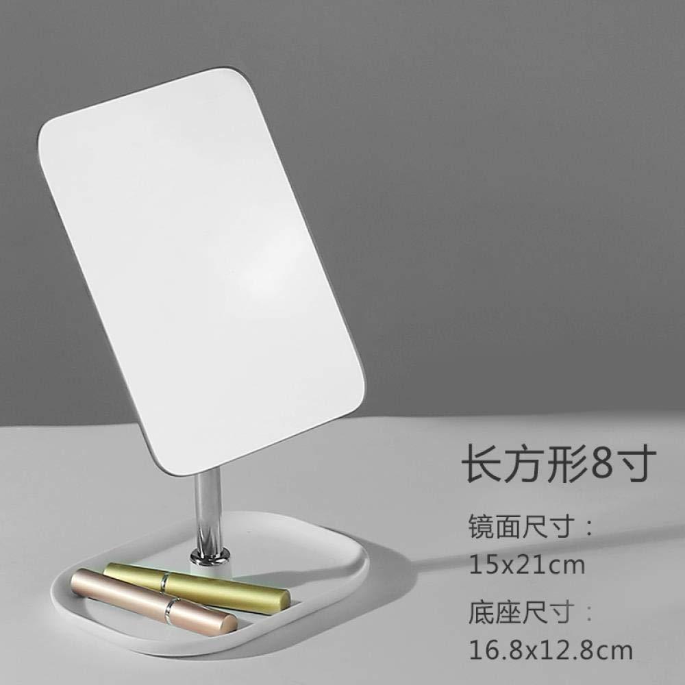 Rotary Mirror Makeup Mirror Portable Small Desktop Dressing Mirror, Receive one-sided desktop mirror