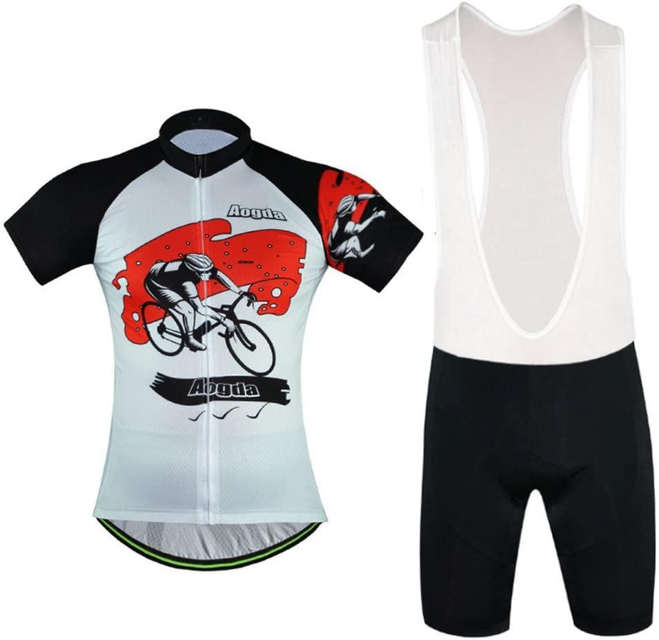 Ladies Bicycle Riding Clothing Aogda Team Womens White Cycling Jerseys Biking Shirts Suit