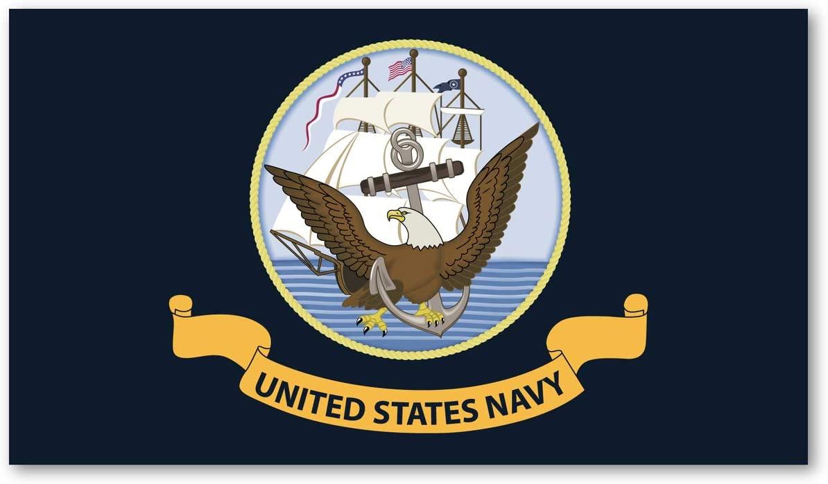 Crazy Novelty Guy Magnet, USN Flag, United States Navy, 7