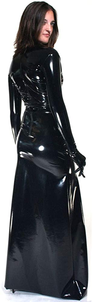 Fetish Queen 12 Colors Gloved Long Dress Women Novelty Catwoman Cosplay Costume